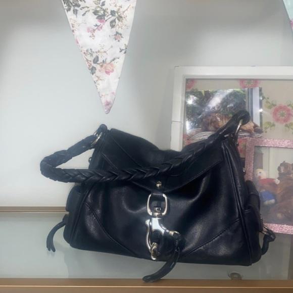 🔥👜Francesco Biasia Black All Leather Bag